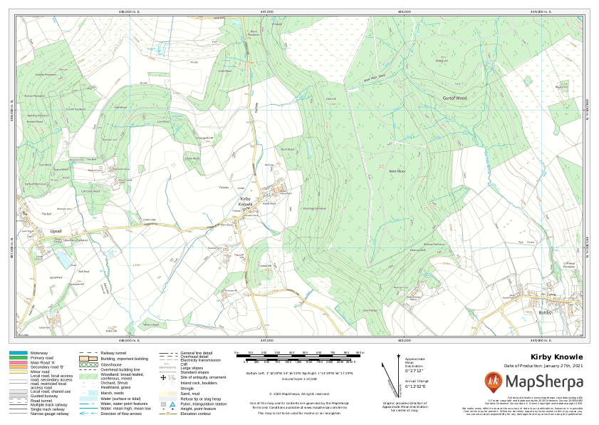 Kirby Knowle Sample Map