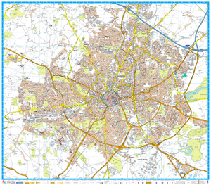 A-Z Maps Coventry map sample