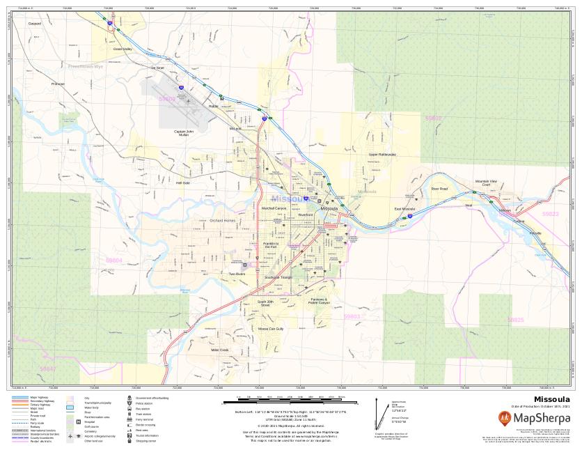 Missoula Montana sample map