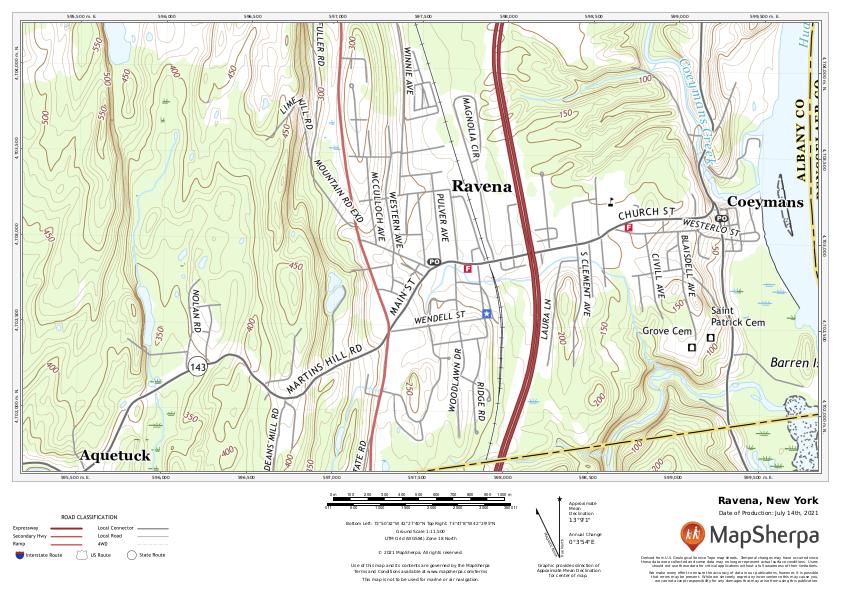 Ravena, New York sample map
