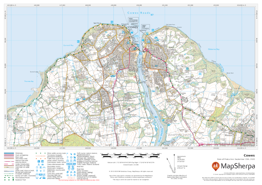 Cowes Sample  Map