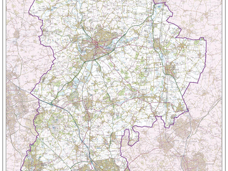 New Print on Demand Maps: XYZ English Ceremonial Counties
