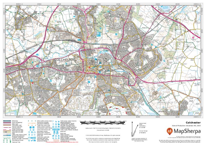 Colchester sample map
