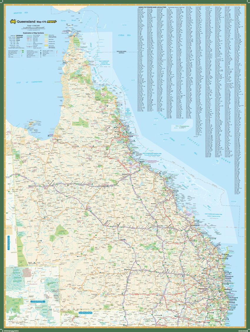 Hardie Grant Travel Queensland Map