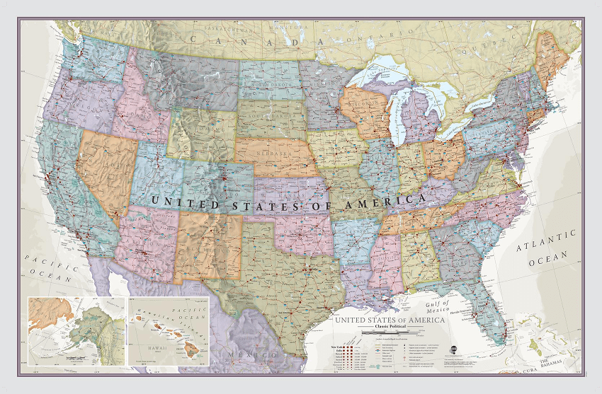 Maps international USA sample map