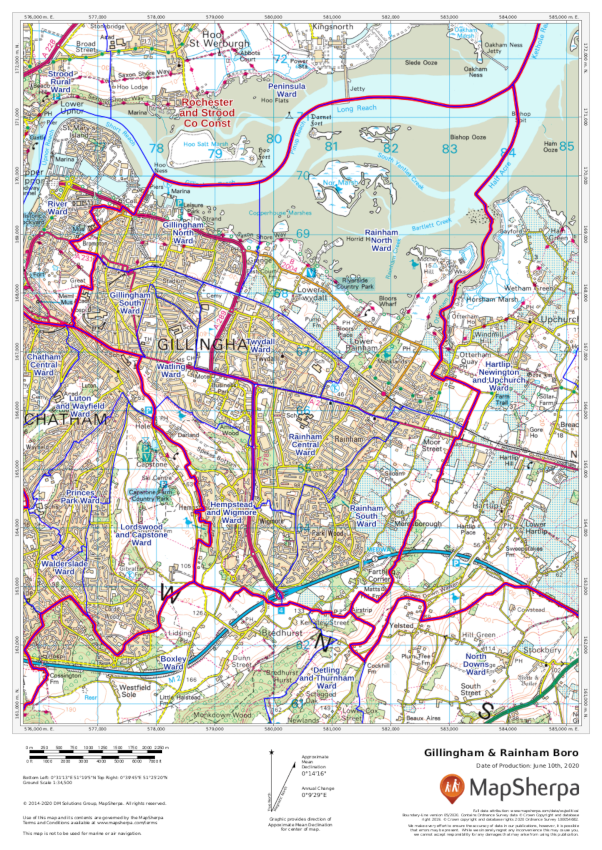 Boundary-Line sample map