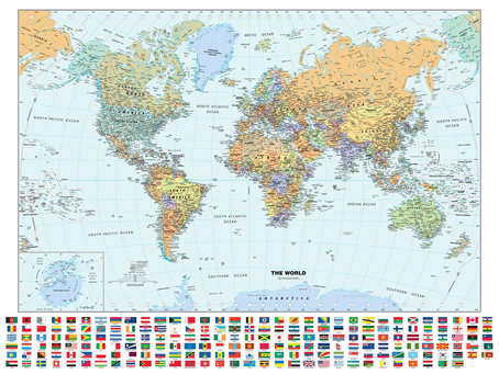 Print on Demand Product Update: Globe Turner and Magna Carta Maps World Maps