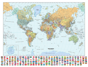 World Map with Flags Sample