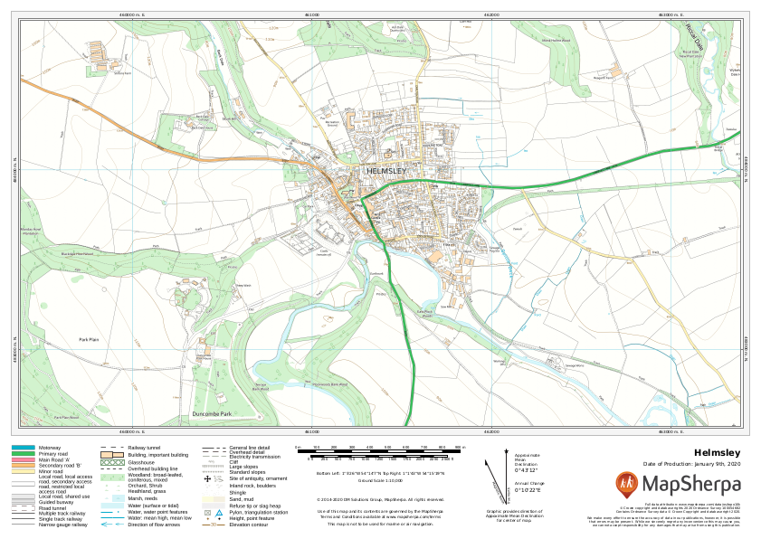 Helmsley UK Detailed Topographic Sample