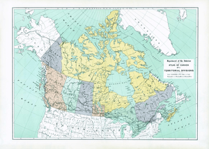 Atlas of Canada First Edition Sample Map