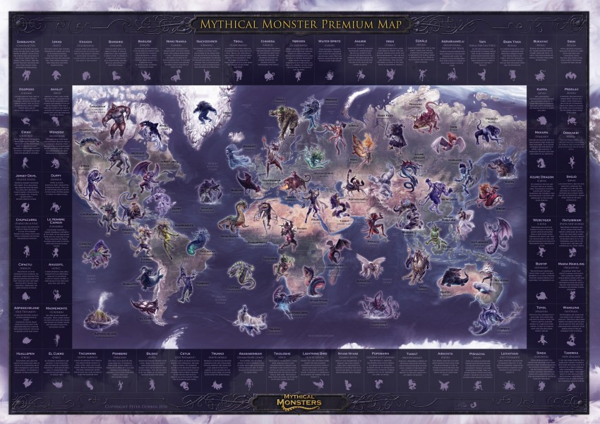 Mythical Monsters Map Premium