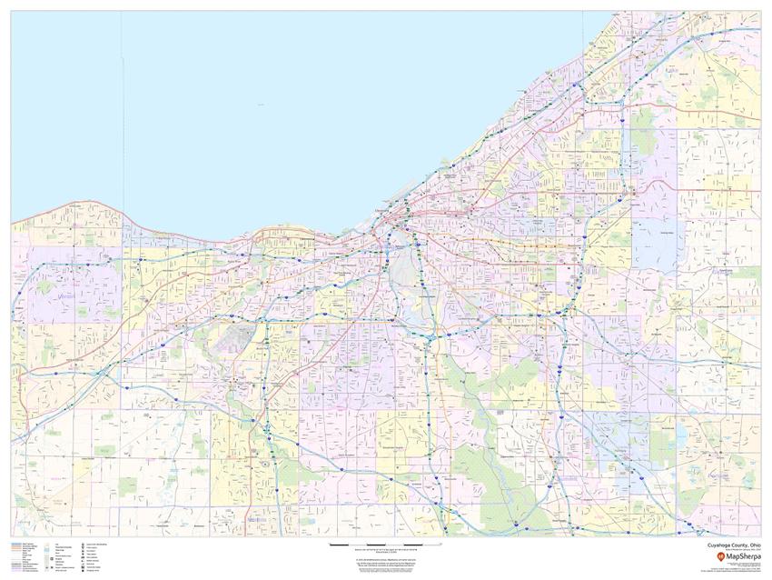 Cuyahoga, Ohio Sample Map