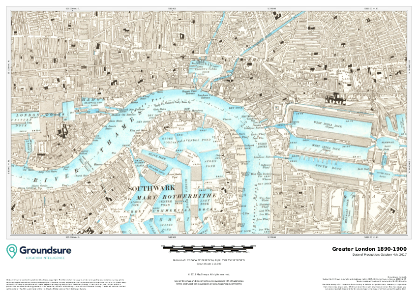Groundsure Greater London sample map