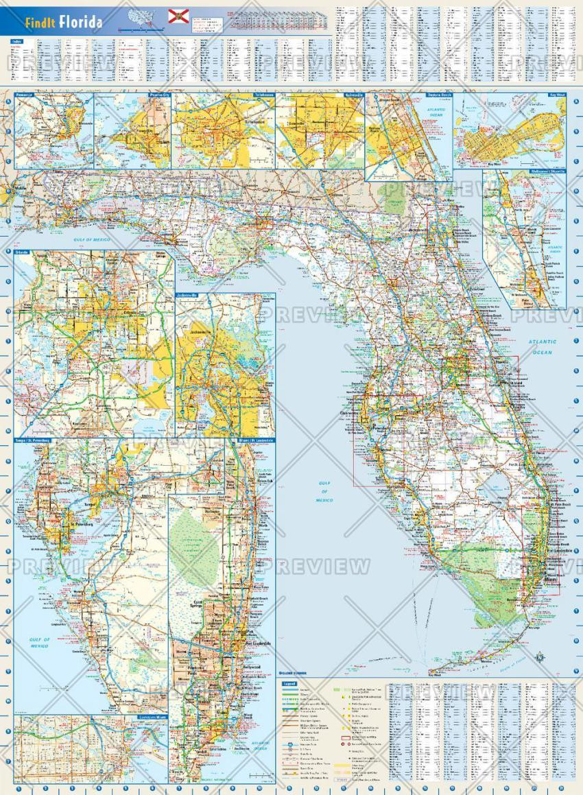 Globe Turner Florida Map