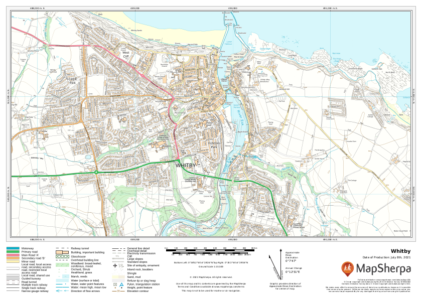 Whitby Sample Map