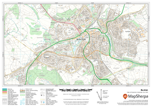 Buxton UK Detailed Topographic Sample