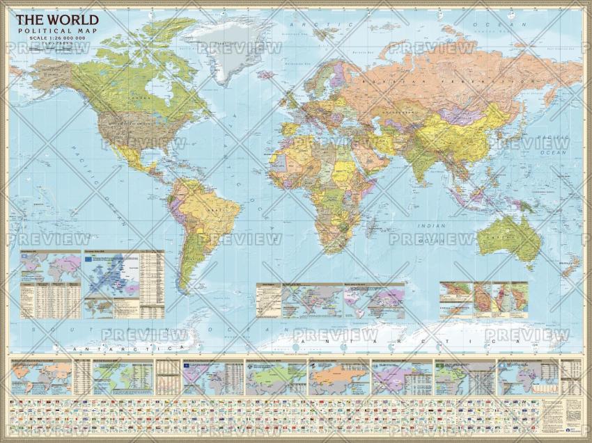 AGT Geocenter World Political Map