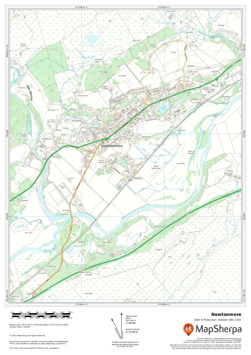 Newtonmore, Scotland sample map