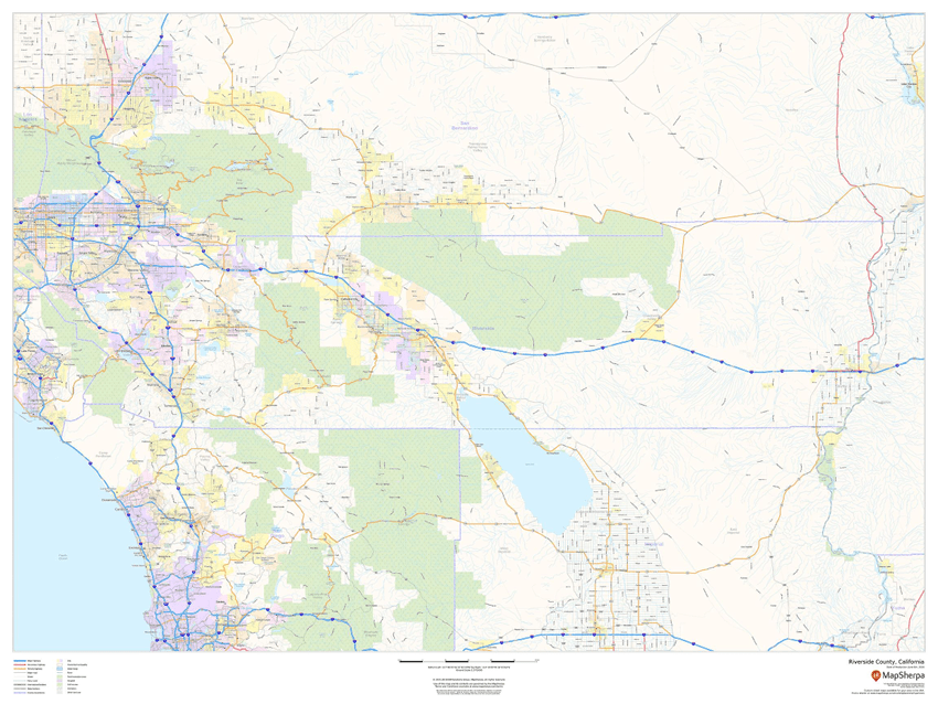 MapSherpa Riverside County street map sample
