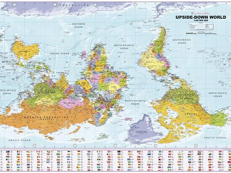 New Print On Demand Map: XYZ Maps Upside Down World