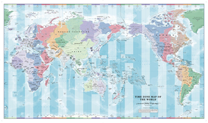 Pacific World Time Zone Sample Map