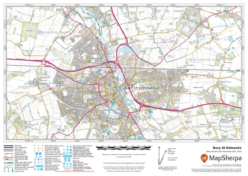 Bury St Edmunds sample map