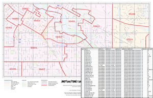 MapSherpa street index zip codes sample