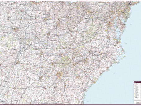 New Print On Demand Maps: Mapping Specialists USA Regional Maps