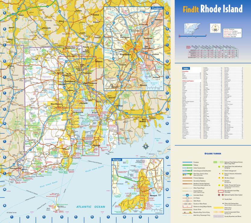 Globe Turner Rhode Island map sample
