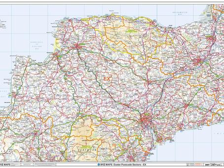 New Print on Demand Maps: XYZ Postcodes
