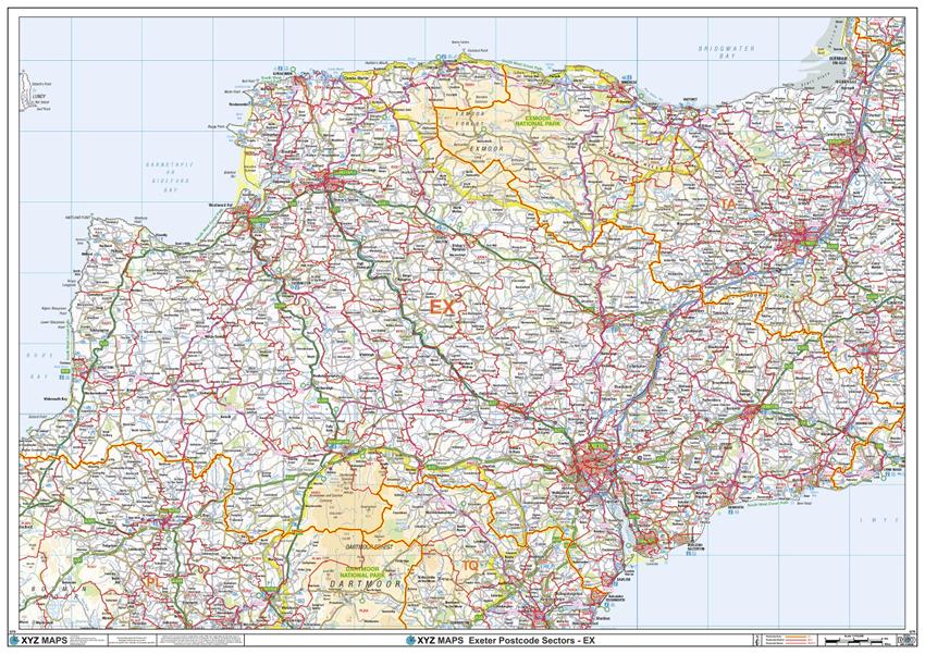 XYZ Postcode Sample Map