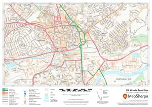 MapSherpa UK Streets Open Map Sample