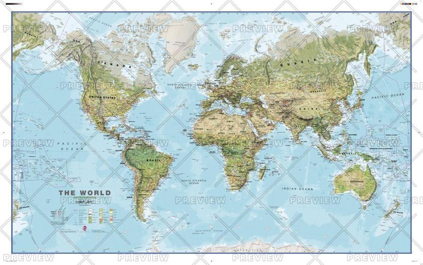 Maps International World Environmental Map