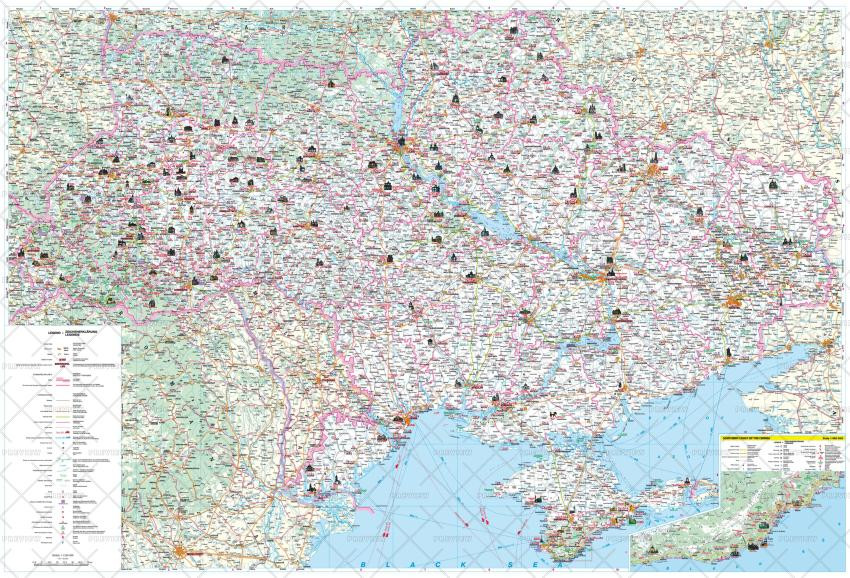Kartographia Ukraine Tourist Map