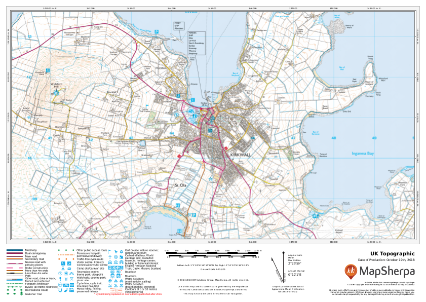 Uk Topographic Sample Map