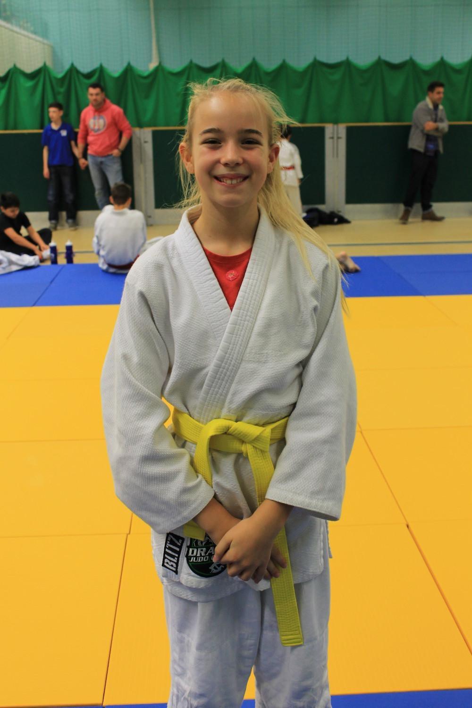 Maria gets her yellow belt!