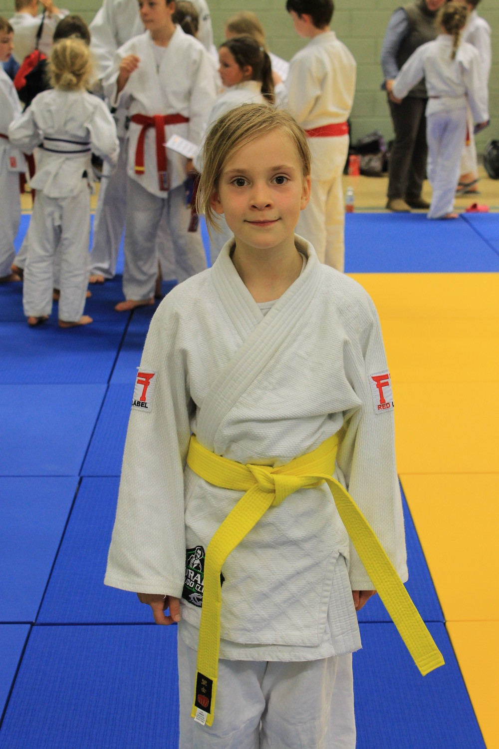 Erin gets her yellow belt!