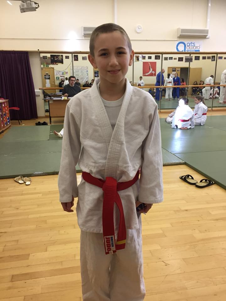 Liam was nervous but flew through his grading to get 1st Mon