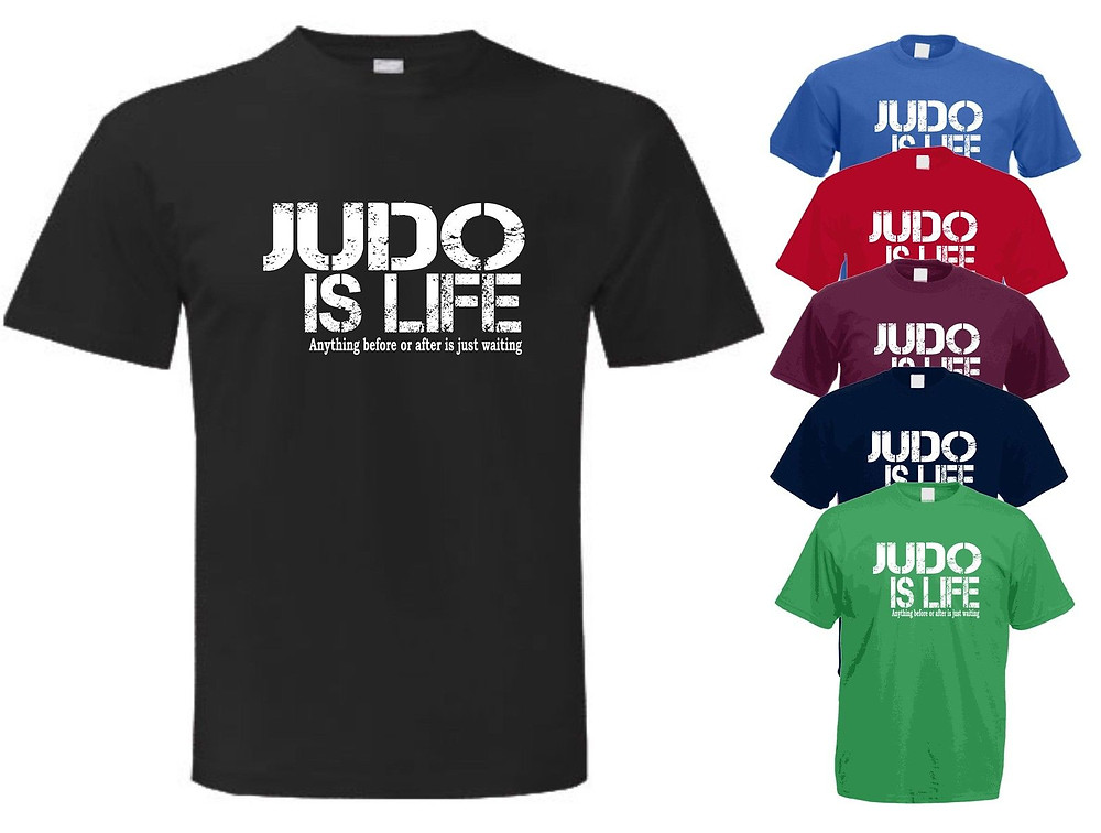 example of Judo T-Shirt design and different colours