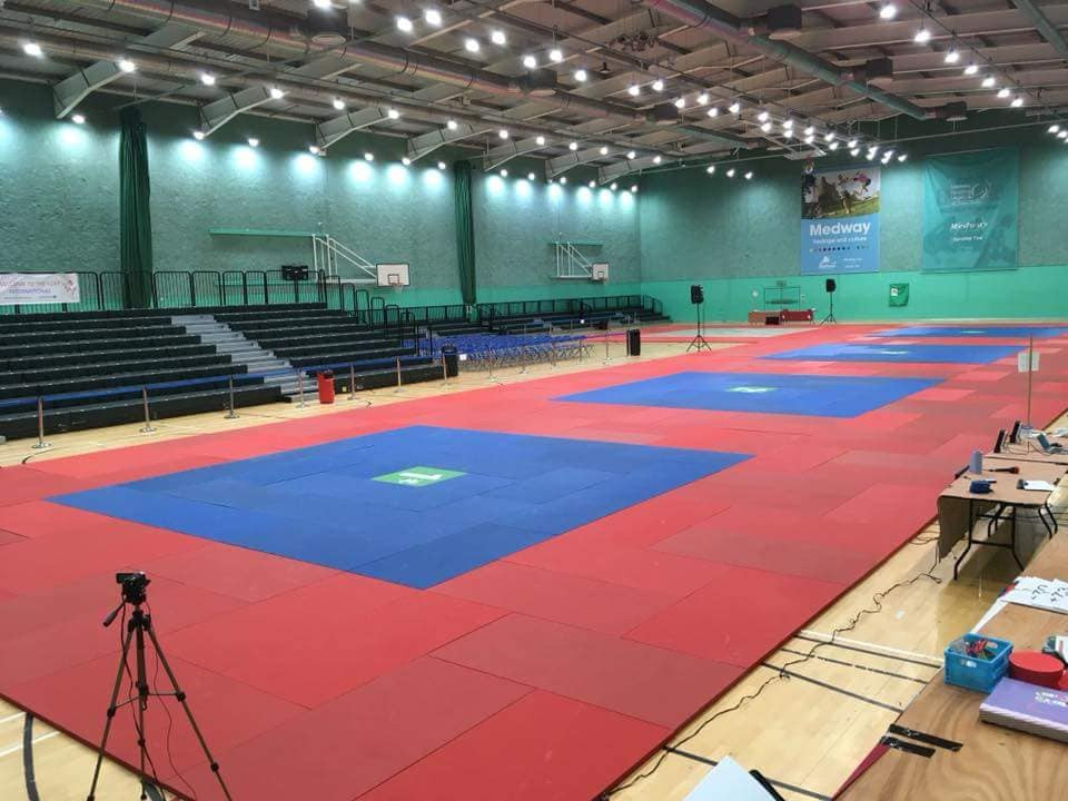 4 mat set up for over 1000 competitors from all over the world