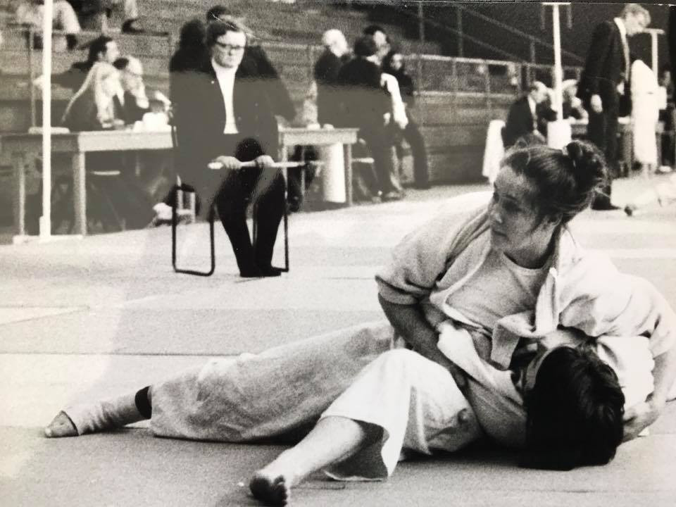 Chris in action in the early days of women competitive Judo