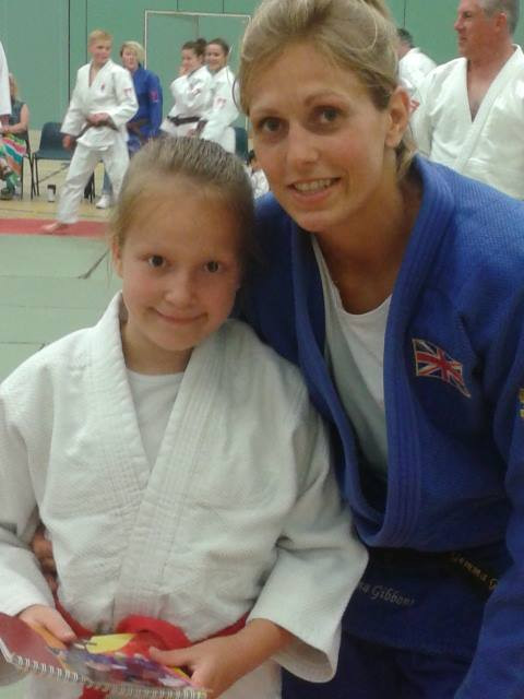 Alanna with Olympic silver medalist Gemma Gibbons