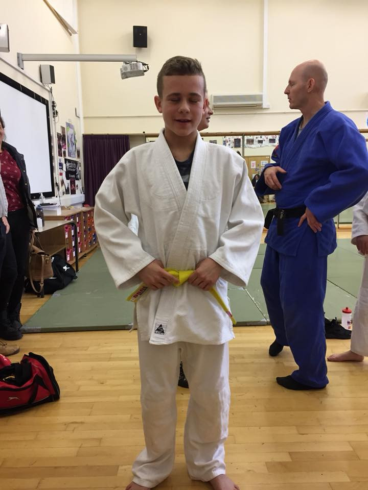 Louis is now a yellow belt!