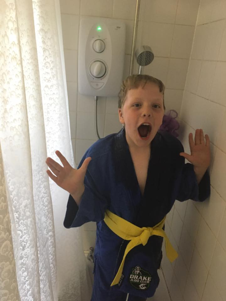 Shock as Reuben has shower by choice!