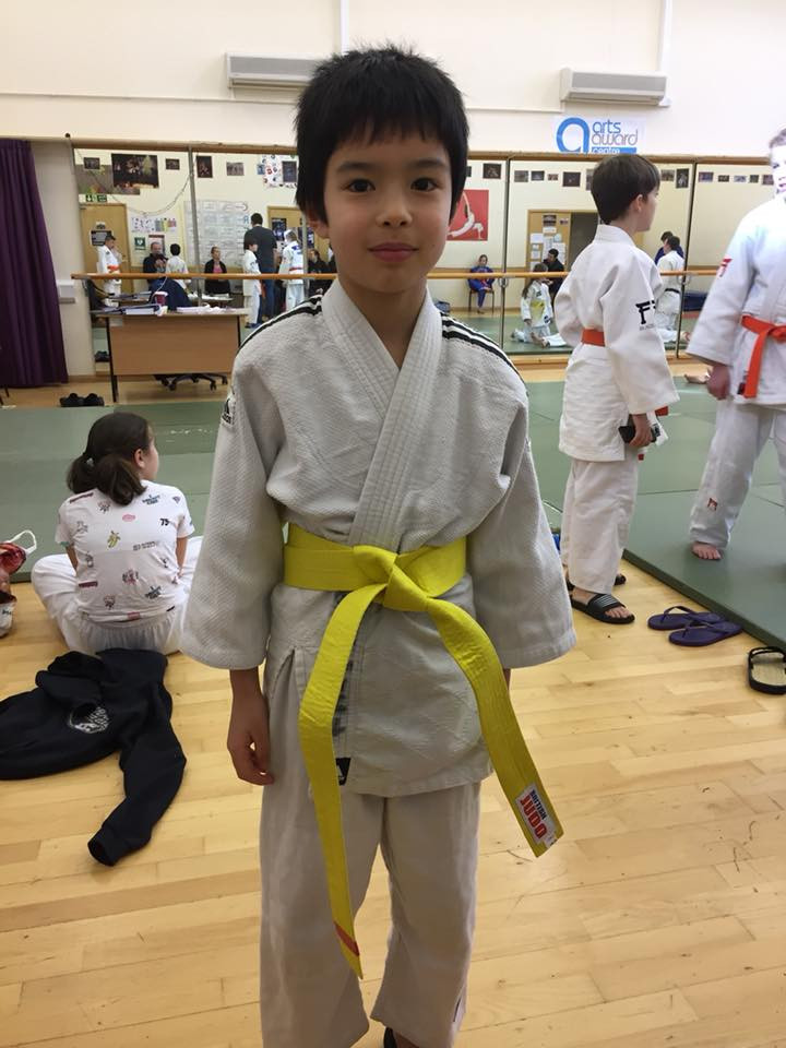 Ariel becomes a new yellow belt, 4th Mon