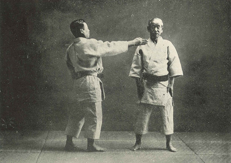 Mr Mifune 10th Dan demonstrating Kata with Kano Shihan