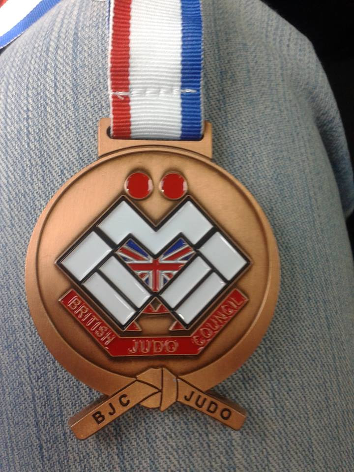 couldn't find a pic of Jack on his own so here is a medal on Alannas knee