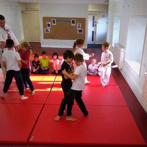 DJC launches latest School2dojo class at Sparkwell Primary School