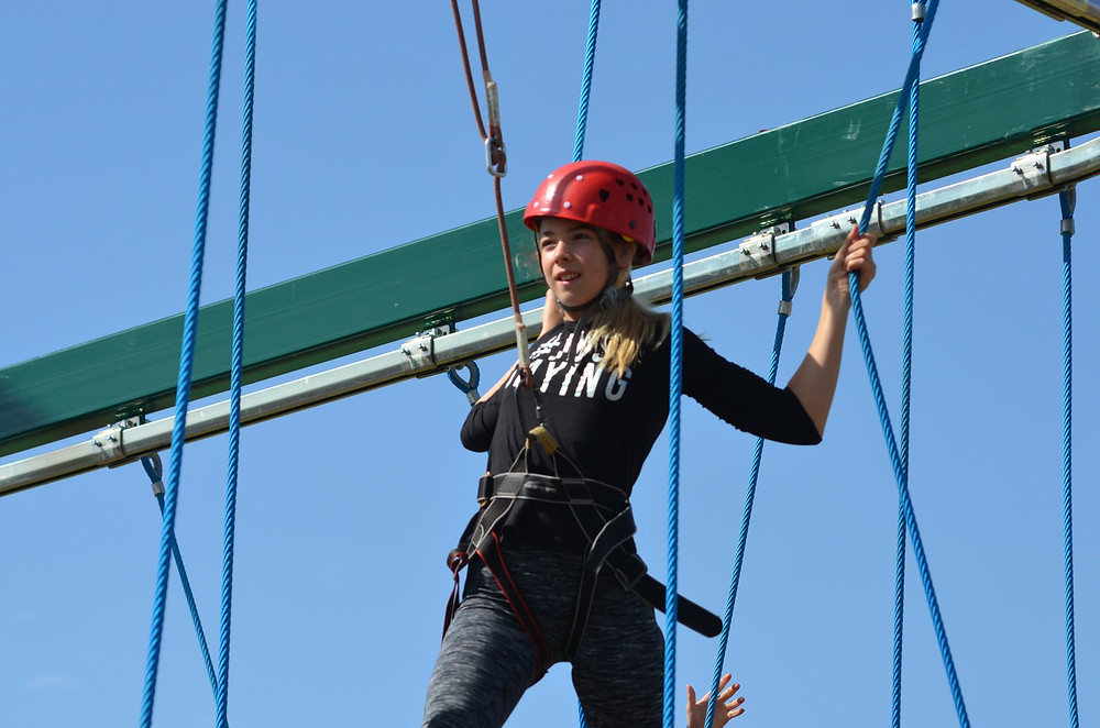 Maria on high ropes