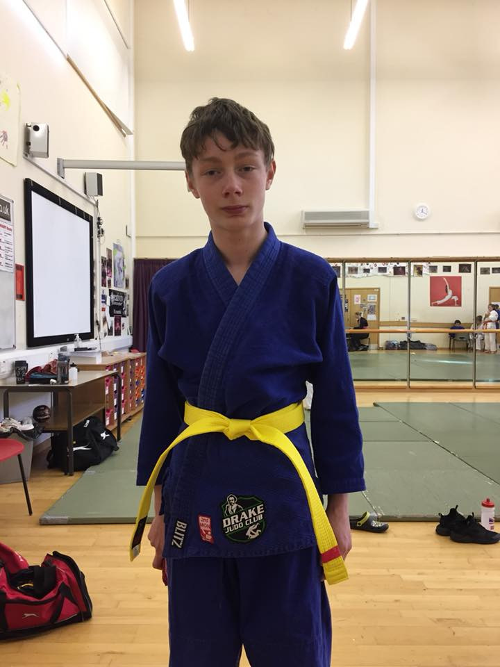 Leo was very good and is now a yellow belt